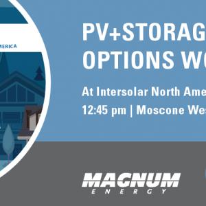 PV+Storage Design Options Workshop at Intersolar NA