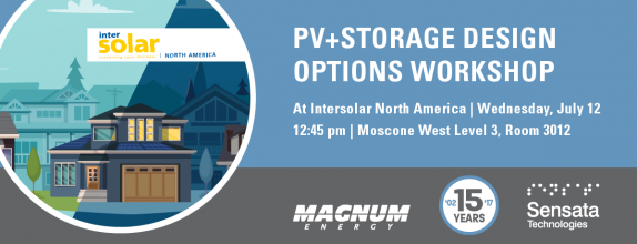 PV+Storage Design Options Workshop at Intersolar NA