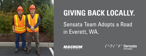 Sensata Team Adopts a Road in Everett, WA