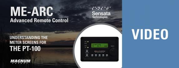 Video Thumbnail: Understand the ME-ARC Remote Meter Screens for the PT-100 Charge Controller